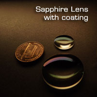 Sapphire coated lens